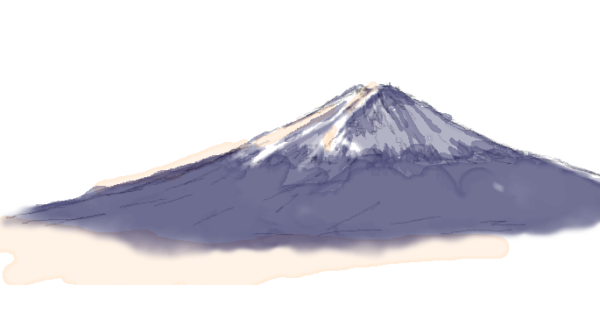 富士山 水彩 イラスト
