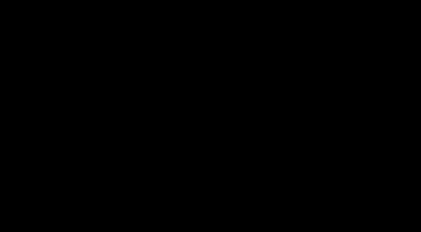 筆で書いた筆記体のcloudyの筆文字