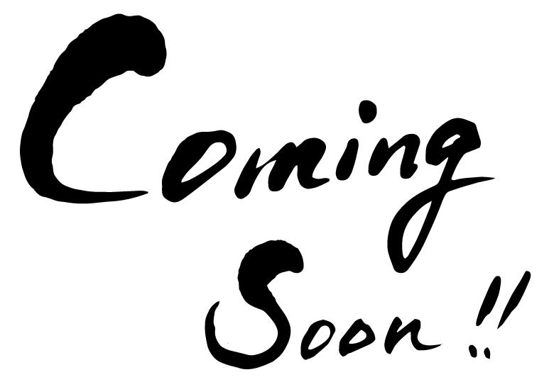 coming soon 筆文字