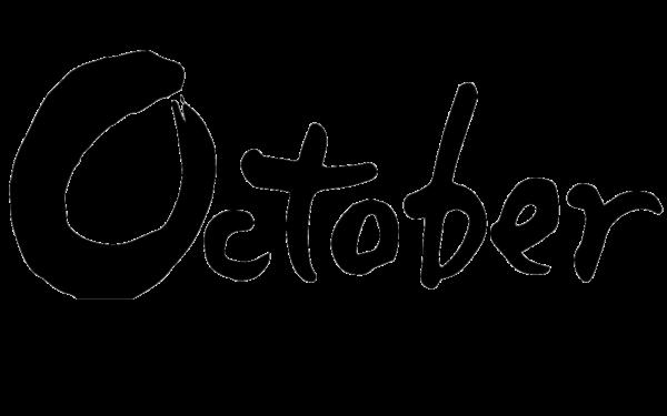 10月、オクトーバー、october、月名、 Month、筆文字