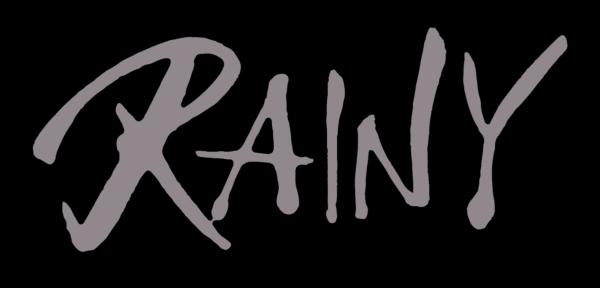 筆で書いたRAINの筆文字