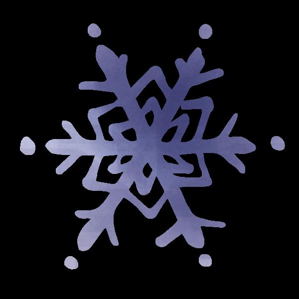 水彩風の雪の結晶
