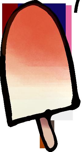 アイスの水彩風のイラスト