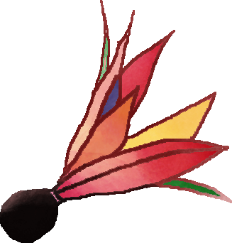 羽根のイラスト