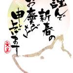 年賀状テンプレート(戌背景)